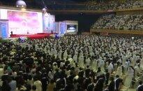 Pietų Korėjoje tūkstančiai porų susituokė per masinę vestuvių ceremoniją