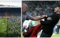 Hibernian fanų siautėjimas (Stopkadras, Reuters-Scanpix nuotr.)