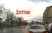 Nufilmavo chuliganą su BMW: tai tikrai nebuvo netyčinis manevras