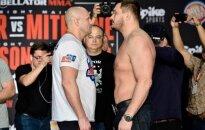 """""""MMA Belator"""" numatyta akistata tarp ruso Fiodoro Jemeljanenkos ir amerikiečio Matto Mitrione buvo atšaukta."""