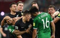 Meksikos ir Naujosios Zelandijos žaidėjų konfliktas