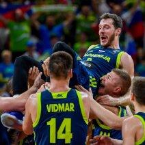 Sensacija pusfinalyje: fantastiškai žaidę slovėnai nukovė tituluotus ispanus