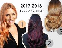 Naujos madingiausios 2017-2018 m. plaukų spalvos