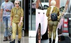 Blac Chyna savo apvalumus įspraudė į gepardo rašto kostiumėlį