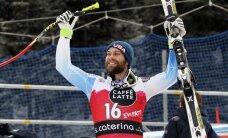 JAV kalnų slidininkas T. Ganongas pirmą pergalę planetos taurės varžybų istorijoje iškovojo Italijoje