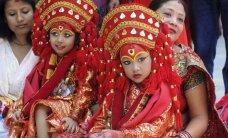 Nepalo traukos objektas - gyva hinduizmo deivė Kumari