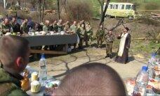 Ukrainos karių Velykos - apkasuose ir bunkeriuose