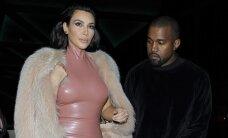 Lateksine suknele apsitempusi Kim Kardashian parodė tobulai nulietą savo kūną