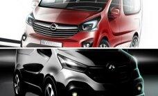 """Pasirodys naujieji """"dvynukai"""" – """"Opel Vivaro"""" ir """"Renault Trafic"""""""