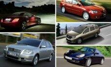 (Ne)patikimiausių naudotų automobilių reitingai