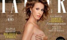 Prieš gimdymą Ksenija Sobčiak dar spėjo nuoga įsiamžinti ant žurnalo viršelio