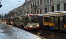 Vilniaus senamiestyje troleibusų eismas ir vėl vyksta sklandžiai
