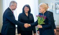 Mindaugas Bastys with president Dalia Grybauskaitė on March 8