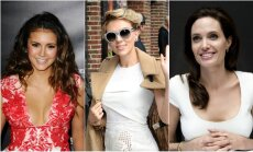 Nina Dobrev, Scarlett Johansson ir Angelina Jolie