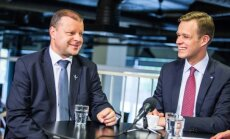 Gabrielius Landsbergis againsty Saulius Skvernelis in the DELFI TV debates
