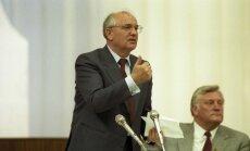 Michailas Gorbačiovas ir Algirdas Brazauskas 1989 m. birželis