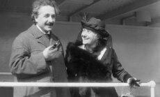 Albertas Einšteinas su žmona Elsa