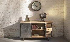 Betono plokštė vietoj stalo: idėjos industrinio stiliaus gerbėjams