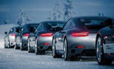Porsche vairavimo mokymai Laplandijoje
