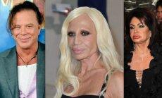 Mickey Rourke, Donatella Versace, Jackie Stallone