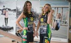 """Kauno """"Aisčių-LSU"""" moterų krepšinio komandos krepšininkės."""