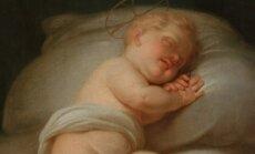 """Juozapas Peška, """"Miegantis kūdikėlis Jėzus"""", XVIII a. pab.–XIX a. pr."""