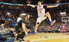 Cavaliers apdovanojimo ceremonija ir mačas su Knicks