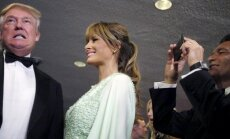Donaldas Trumpas su žmona Melania