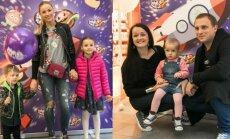 Goda Alijeva su vaikais, Rasa Židonytė ir Karolis Ramoška su dukrele
