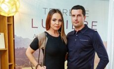 Neringa Mažeikienė su vyru FOTO:  A. Mažeika
