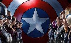 Kapitonas Amerika. Pilietinis karas plakatas