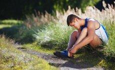 Bėgikas patyrė traumą