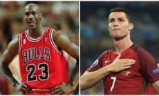 Michaelas Jordanas ir Cristiano Ronaldo (AFP ir AP nuotr.)
