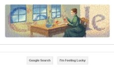 Marie Curie Google logotipas
