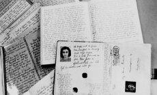 Anne Frank dienoraščio rankraščiai.