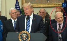 Buzzas Aldrinas reaguoja į Donaldo Trumpo kalbą apie kosmosą