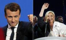 E. Macron and M. Le Pen