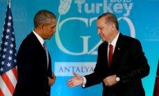 B. Obama ir R. T. Ergodanas prieš G-20 susitikimą