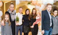 D. Dargienė su dukra, Š. ir L. Mazalai su dukra ir E. Daugėlaitė, E. Skrolytė su J. Elvikiu