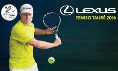 """""""Lexus teniso taurės 2016"""" žiemo turnyro finalų transliacijos plakatas."""