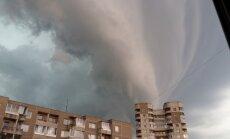 Liūties debesys Vilniuje