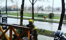 Sniegas Šventojoje. Foto / Rytis Mazūras