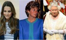 Kate Middleton, princesė Diana ir karalienė Elžbieta II
