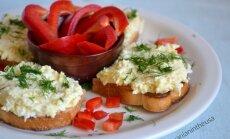 Kiaušinių ir sūrio užtepėlė