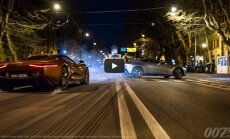 Superautomobilių lenktynės iš naujojo filmo apie J. Bondą