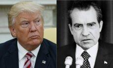 Donaldas Trumpas ir Ričardas Nixonas