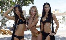 Victoria's Secret modeliai: Alessandra Ambrosio, Candice Swanepoel ir Adriana Lima