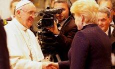 Popiežius Pranciškus ir Dalia Grybauskaitė, M.Lingės nuotr.