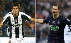 Alvaro Morata ir Zlatanas Ibrahimovičius (AFP ir Reuters nuotr.)