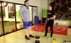 Pamatykite, kaip sportuoja 140 kilogramų sveriantis Lukas